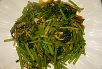 肉丝耗油炒茼蒿的做法