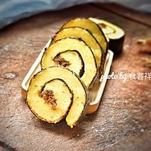 #精品菜谱挑战赛#紫菜肉松蛋糕