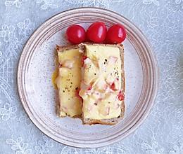 #肉食者联盟#芝士鸡蛋吐司#麦子厨房早餐机#的做法