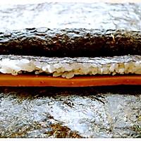 花样寿司---方型火腿花瓜鸡蛋卷的做法图解5