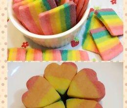 七色彩虹曲奇饼的做法