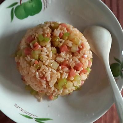 番茄酱炒饭