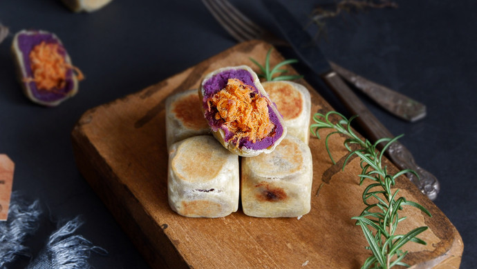 肉松紫薯仙豆糕#令人羡慕的圣诞大餐#