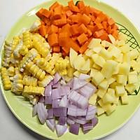 胡萝卜玉米浓汤的做法图解1