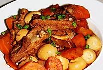 胡萝卜鹌鹑蛋烧排骨-冬季暖身的做法