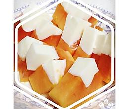 【家常便饭】高端大气老少咸宜的木瓜牛奶冻的做法