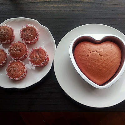红丝绒戚风蛋糕~心系一抹红色