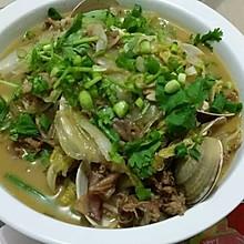 大蛤海兔炖白菜五花肉