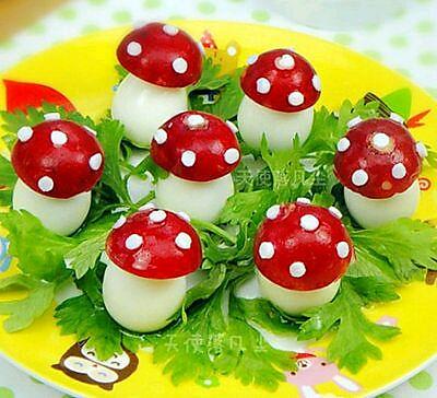 鹌鹑蛋小蘑菇(宝宝铺食)