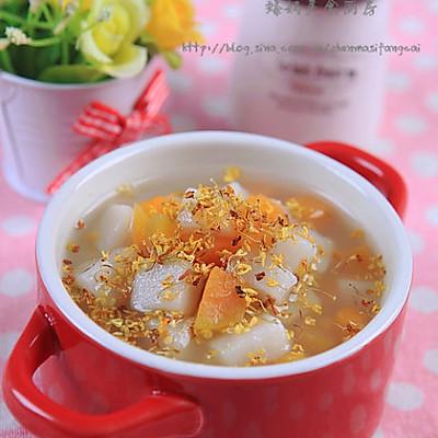 桂花红薯年糕甜汤
