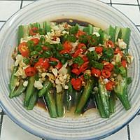 夏天最喜欢吃的蒜香秋葵,让你胃口大开的做法图解9