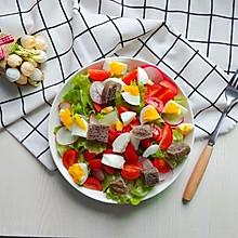 鸡蛋果蔬沙拉#春天肉菜这样吃#