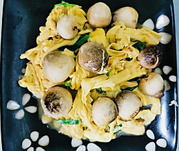 #太太乐鲜鸡汁玩转健康快手菜#鸡汁草菇腐竹的做法