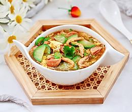#食来运转 八方进福#黄瓜火腿磷虾鸡蛋汤的做法