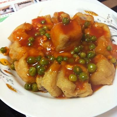 茄汁烩油豆腐(油豆腐内含丸子)