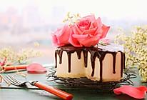 鲜花巧克力淋面蛋糕的做法