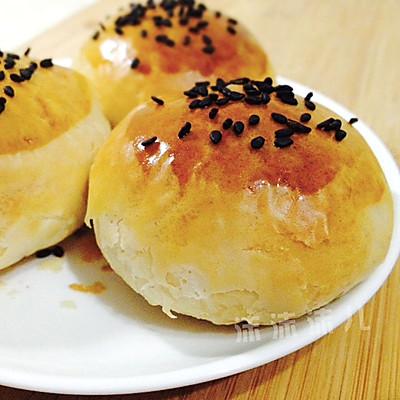 椒盐酥饼(自制椒盐芝麻馅)