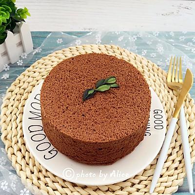新手烘焙——【巧克力戚风蛋糕】