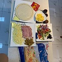 自創:榨菜、雞蛋雙拼烤披薩;的做法圖解1