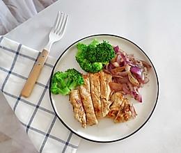 嫩煎鸡胸肉,健身减脂必备的做法