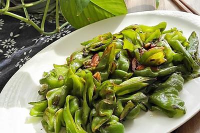 蒜炝虎皮椒-素食主义快手菜