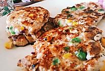 【减肥餐】香煎什锦鸡肉饼&无油版的做法