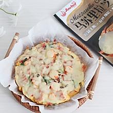 #安佳马苏里拉芝士挑战赛# 生酮减脂餐,无粉培根披萨