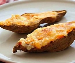 芝士焗番薯#美的微波炉菜谱#的做法