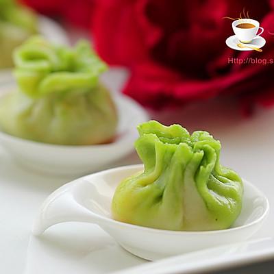 豆腐蛋黄翡翠包