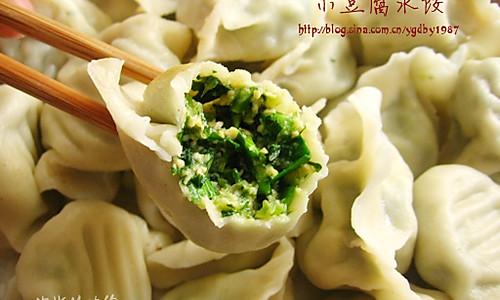 小豆腐水饺的做法