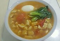 西红柿青菜疙瘩汤的做法