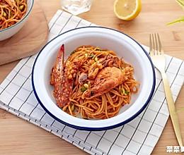 韩式海鲜辣意面|口感超丰富的做法