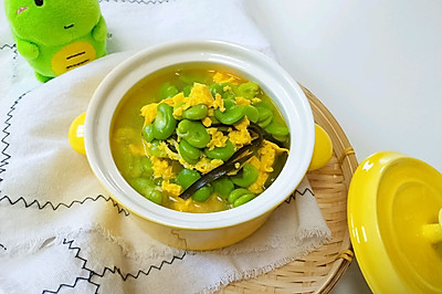 #母亲节,给妈妈做道菜#蚕豆海带鸭蛋汤