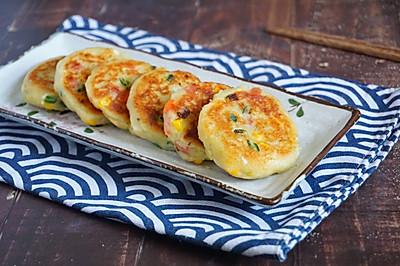 外酥里嫩的鲜蔬土豆饼,简单快手的营养早餐,可做小吃可做主食