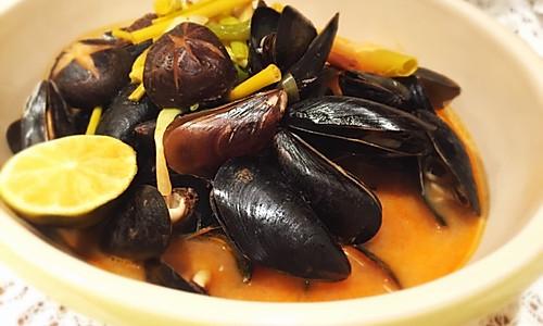 冬阴淡菜(Mussels)汤的做法