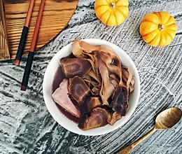 紫萝卜火龙果花干猪骨汤的做法