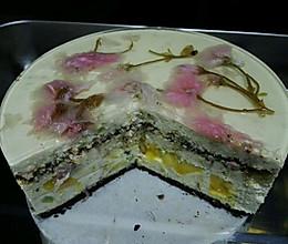 樱花芒果芝士脆脆蛋糕的做法