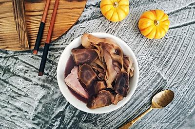 紫萝卜火龙果花干猪骨汤