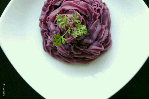 奶油紫薯泥的做法