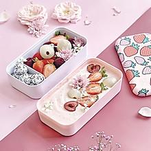 #夏天夜宵High起来!#草莓酸奶思慕雪