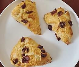 英式面包「蔓越莓司康」的做法