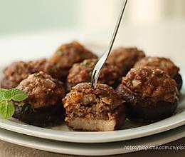 ~香菇酿肉~鲜嫩多汁的美味烤箱菜的做法