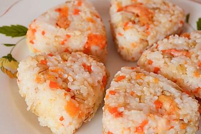 北极虾麦仁饭团