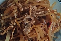 萝卜丝炒肉的做法