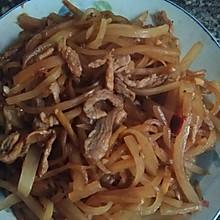 萝卜丝炒肉