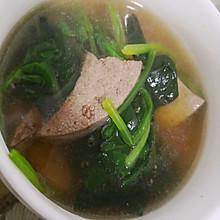 补铁利器     菠菜猪肝汤