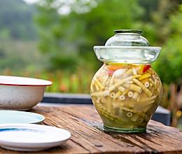 自制泡椒小笋,酸辣开胃(内附老母水做法)的做法