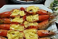 蒜蓉芝士焗大虾的做法