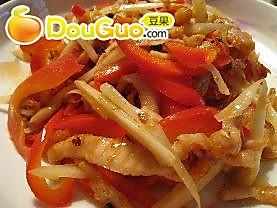 开胃菜——仔姜肉丝的做法