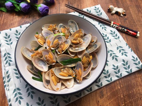 姜葱炒花甲(路飞酱的海鲜宴)的做法
